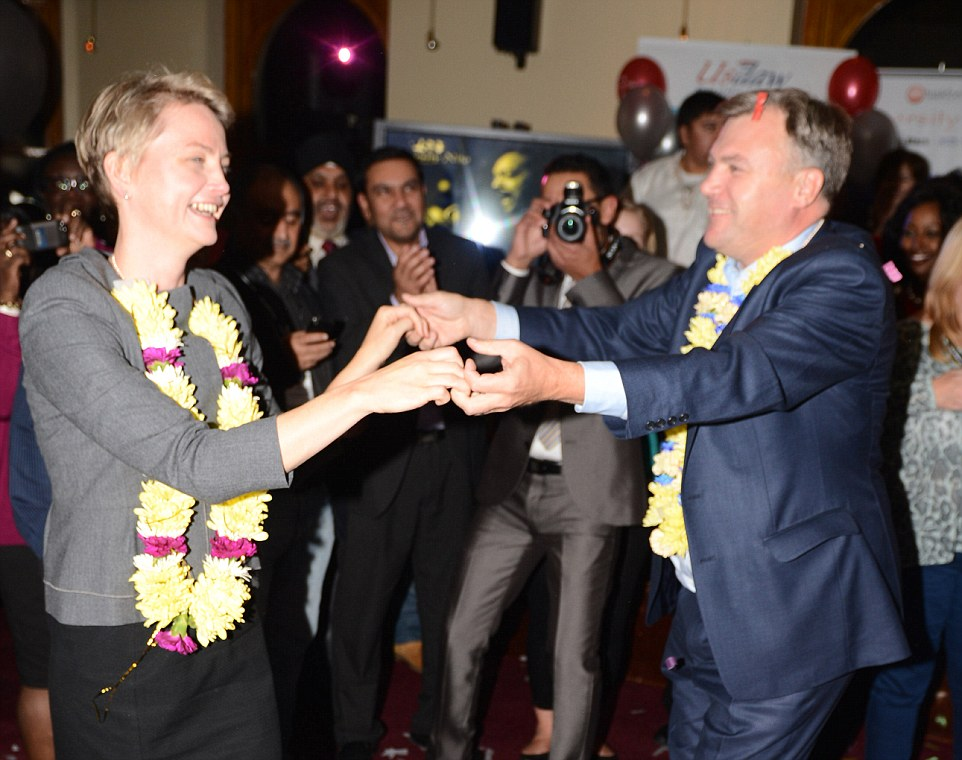 Ed Balls dancing with his wife Yvette Cooper in 2012. She encouraged him to do Strictly