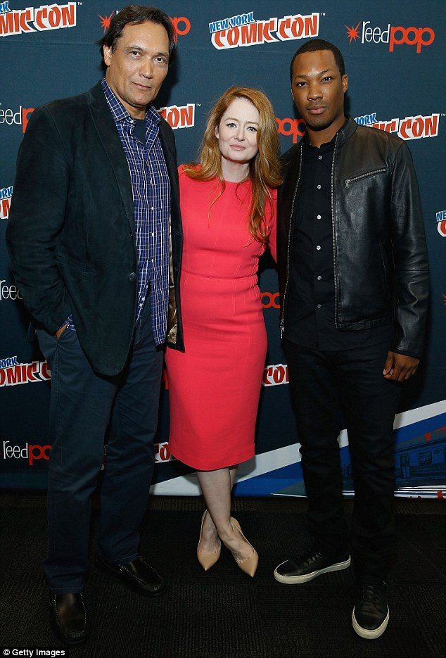 Co-stars: Miranda was joined by fellow 24: Legacy co-stars Jimmy Smits and Corey Hawkins
