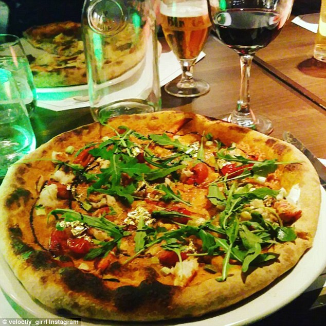 All that glitters: Other establishments internationally have previously made gold leaf pizzas