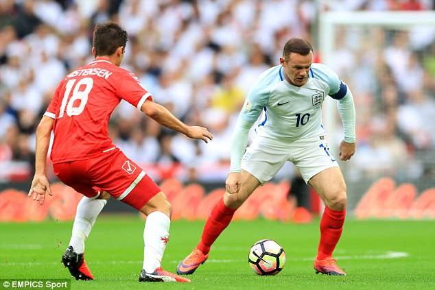 England captain Rooney was booed after his display against Malta at Wembley on Saturday