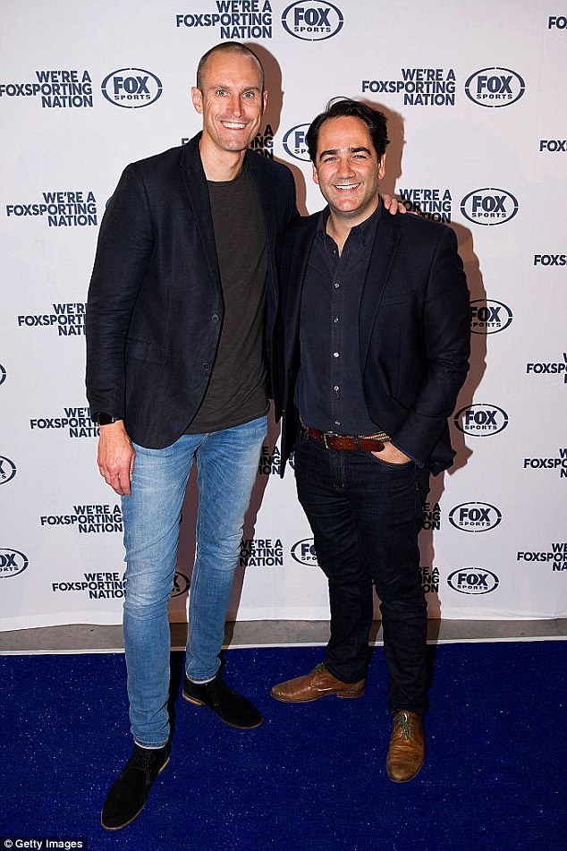 Out of sight: Wippa laughed:'He is not here tonight, he is auditioning for Big Brother 2017, which is quiet weird. He is desperate to get back into the Big Brother house'