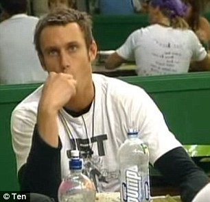 Blast from the past:Fitzy originally appeared on Big Brother back in 2004 after retiring from the AFL and before beginning a career in radio