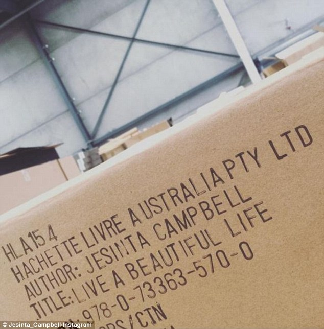 It's happening! On Friday, the runway regular uploaded a photo of a large cardboard box that presumably held copies of her debut novel, while excitedly telling her fans in the caption: 'Pinch me moment!!!'