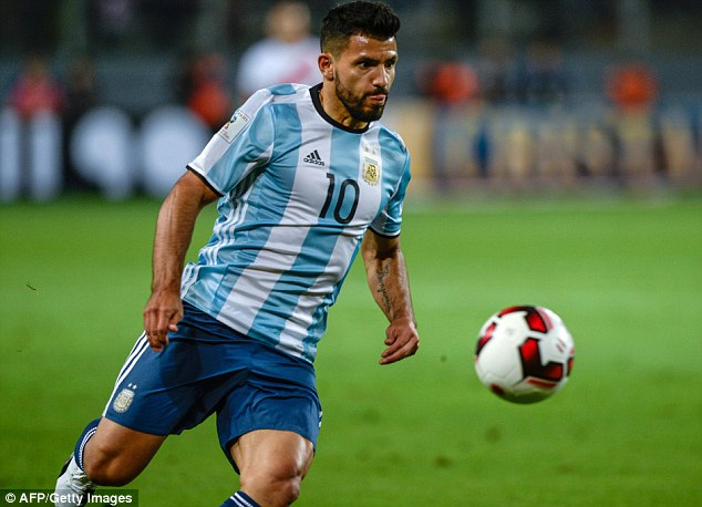 Manchester City are sweating on Sergio Aguero after he limped out of training with Argentina