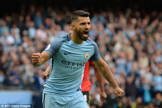Aguero has been in fine form for City with 11 goals in just eight games so far this season