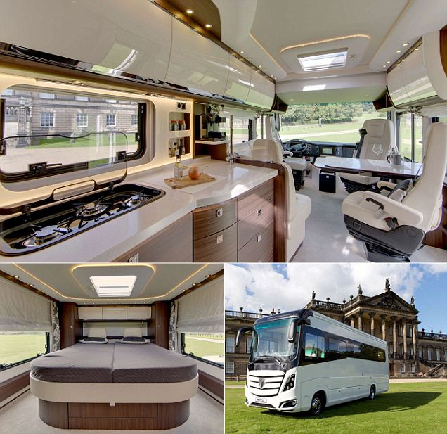 A luxury hotel on four wheels! The £380,000 campervan with underfloor heating, a rain