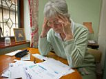 An old age pensioner worrying about bills  AP20C7