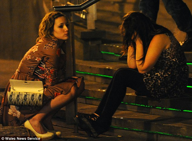 Sorry night: Feeling tired and emotional after a night out drinking