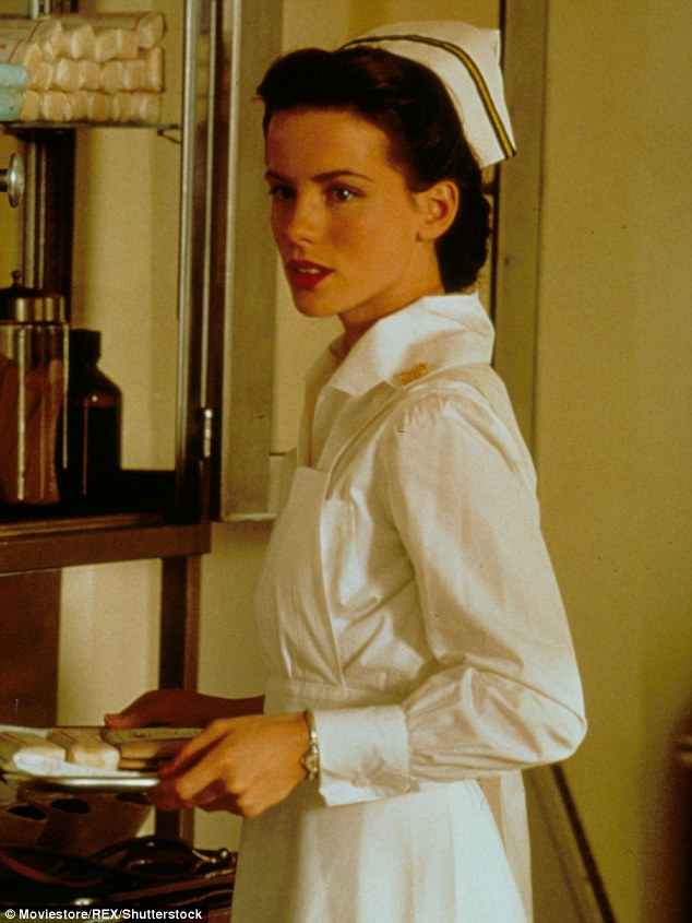 Action shot: Kate pictured in character during the 2001 film - looking virtually flawless and certainly in shape
