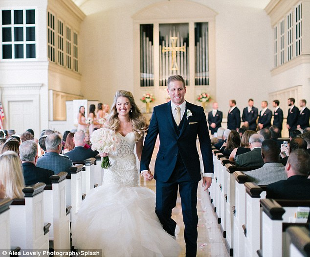 'This gives me all the feels': Bachelor alum Nikki Ferrell was beaming as she tied the knot with fiancé Tyler VanLoo in Kansas City on Saturday