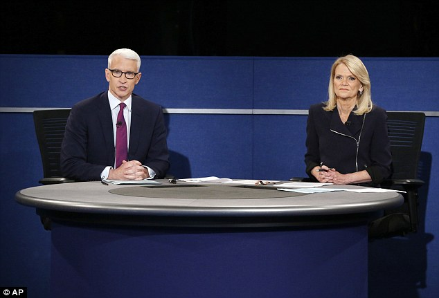 Anderson Cooper had tried to move onto audience Q&A, directly after Martha Raddatz had asked Hillary Clinton about the email controversy and the FBI investigation