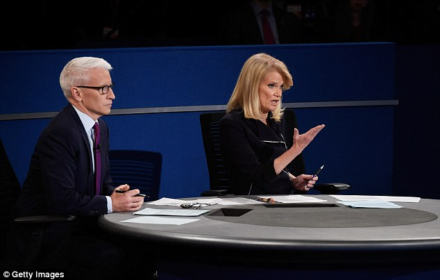 Clash: Martha Raddatz became involved in a series of angry confrontations with Trump