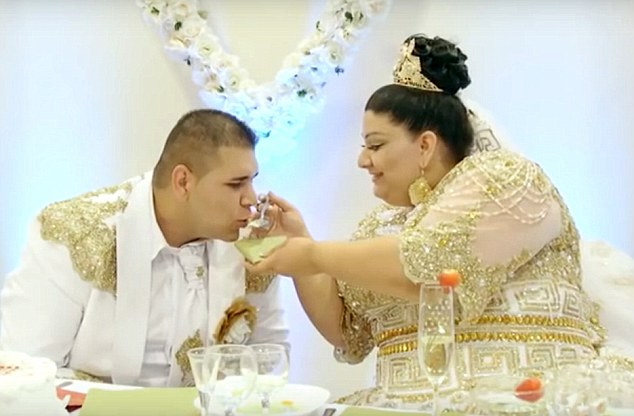 The newly wed couple enjoy their extravagant wedding celebrations in Slovakia