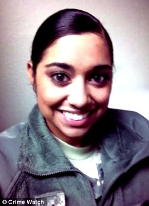 Maliek Kearney has been charged over the killing of his wife, Karlyn Ramirez (pictured), a US Army Private First Class who was found dead in her home in Severn, Maryland, in August 2015