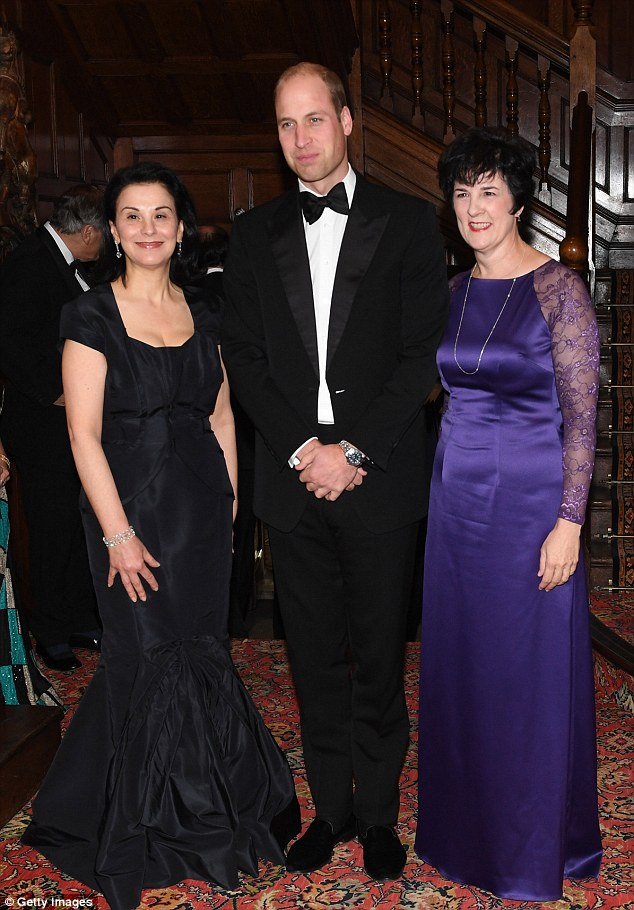 Upon arriving at the event the prince met with some of the inspirational women attending the event in Aid of Skillforce