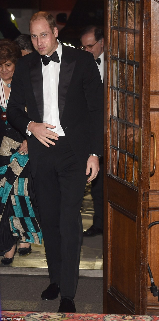 William had clearly been following the advice of his new stylist Natasha Archer as he was pictured looking dapper this evening