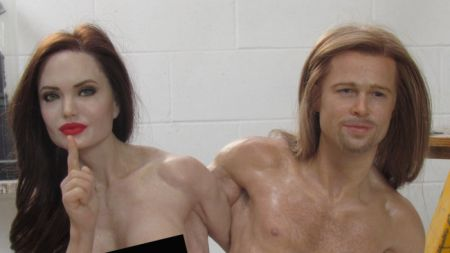 You can buy a naked statue of Angelina Jolie and Brad Pitt on eBay