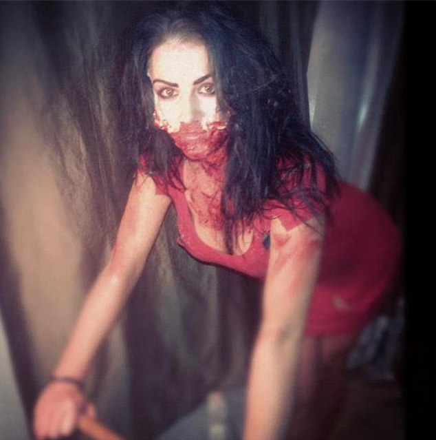 Grainne McCoy poses for the camera in a Facebook picture of her dressed as a zombie