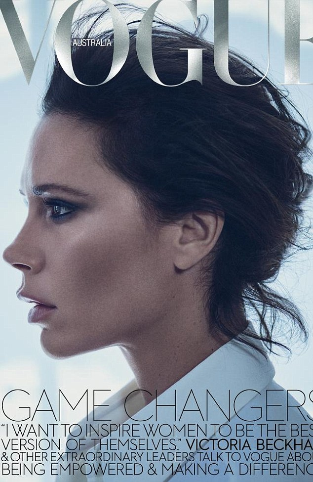 Stunning: The mother-of-four is flawless as she appears on the cover of the magazine's November issue, on sale October 17