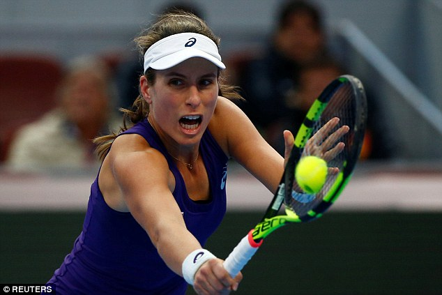 25-year-old Konta can still be positive about what she has achieved in Beijing this week