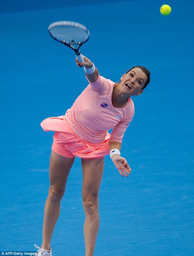 Radwanska, 27, delivered a classy display and won the match with a rare ace