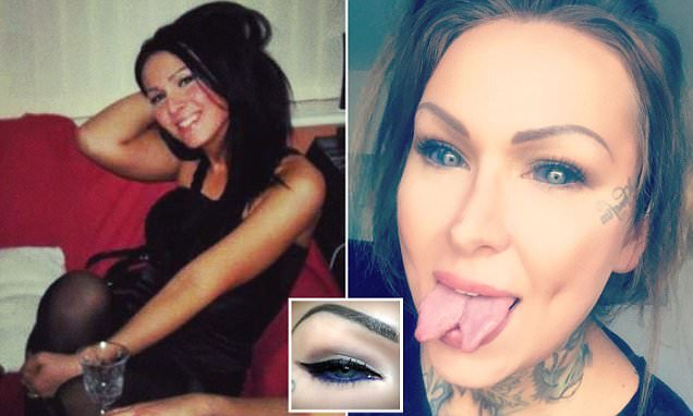 Tattoo artist risks blindness to get her EYEBALLS injected with ink