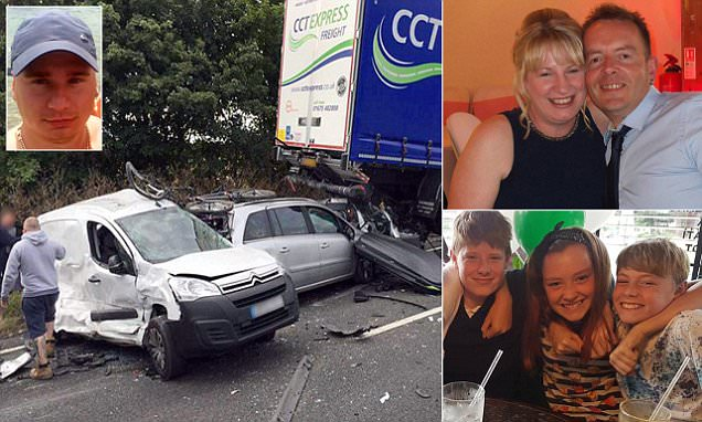 Polish lorry driver admits killing 4 in a A34 pile up while changing music on his phone