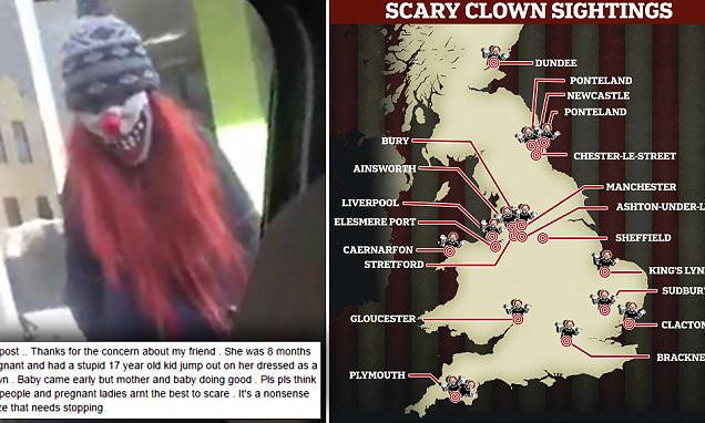 Woman forced into premature labour after being scared out of her wits by clown jumping out