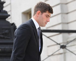Ched Evans arrives at court for a second day of cross-examination