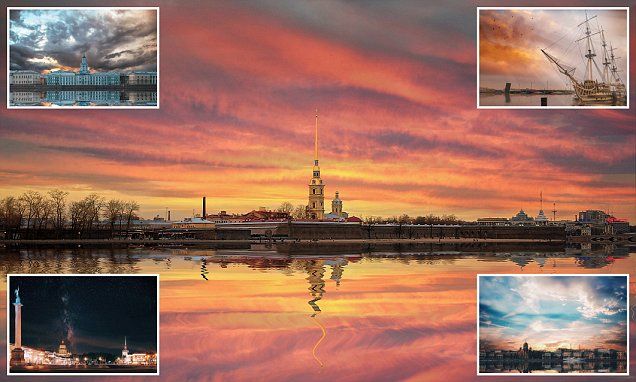Russia's skyline resembles something out of a fairy tale in stunning dream-like