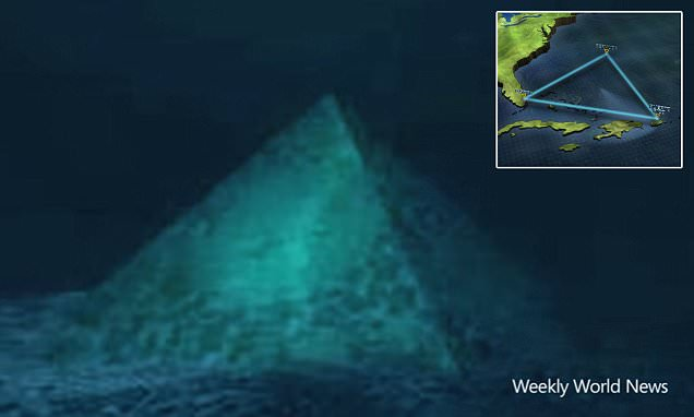 Is there a crystal pyramid below the Bermuda Triangle? Conspiracy theorists say the