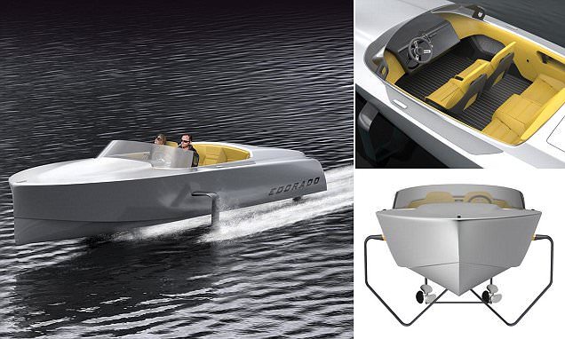 The 'Tesla of speedboats': £120,000 electric yacht travels 50 miles on one charge - but