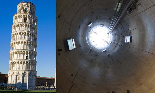 Leaning Tower of Pisa's bare interiors revealed in photos