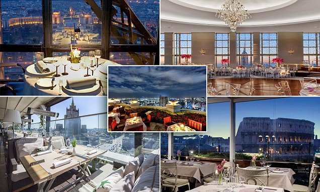 Views to dine for! From New York's Empire State Building to Rome's Colosseum, the