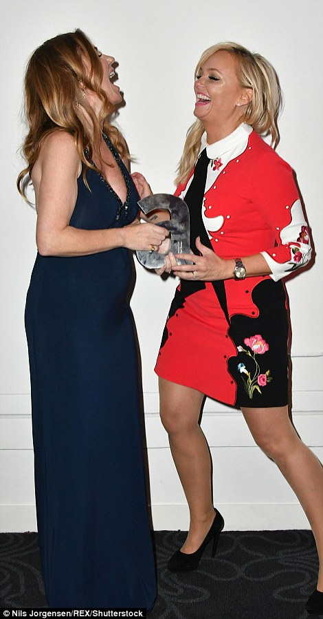 Awarded: She was given the prize by her fellow former Spice Girl Emma Bunton, who was suitably named Baby Spice