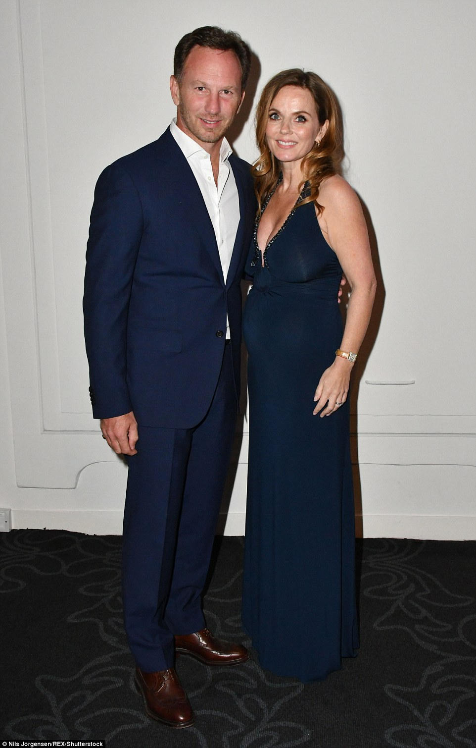 Moving on up: Geri and Christian have been married for a little over a year