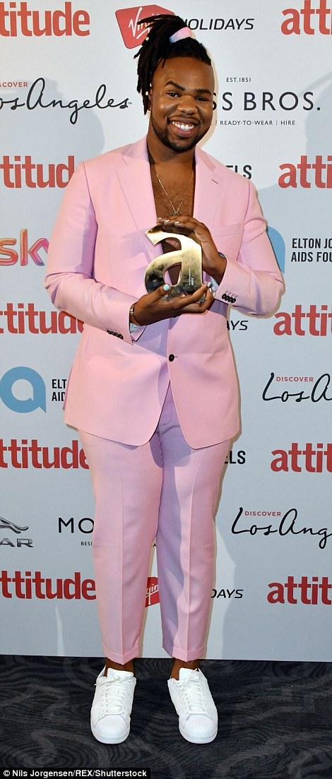 Success: MNEK picked up his award for  Breakthrough Award Winner