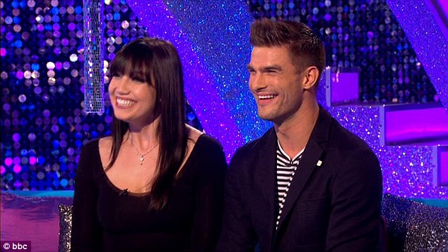 Also there: Daisy Lowe also appeared on It Takes Two alongside her partner Aljaž Škorjanec