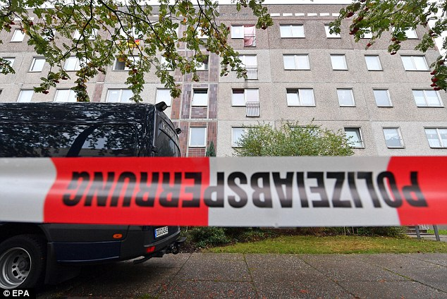 A major manhunt had been launched for the 22-year-old, who is believed to have links to ISIS, after police raided an apartment in the city of Chemnitz and found several hundred grams of 'an explosive substance more dangerous than TNT'