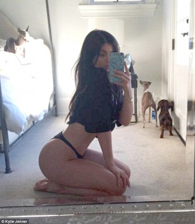 Curves in all the right places: Kylie is partial to a racy selfie, often showcasing her famous derriere
