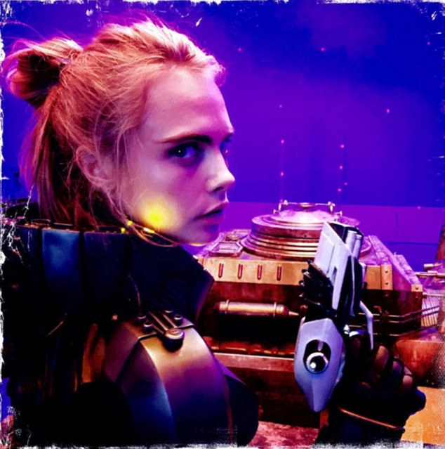 Sneak peek:Cara's outing in the city came shortly after she shared a sneak peek image into her latest movie role in Valerian And The City Of A Thousand Planets
