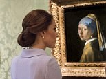Her Royal Highness The Duchess of Cambridge  visited the  Mauritshuis in The Hague, Netherlands.  The visit was planned to coincide with the exhibition  At Home in Holland: Vermeer and his contemporaries from the Royal Collection, which includes important genre paintings from the Queens  collection. The Duchess of Cambridge was received by director Emilie Gordenker, who gave her a tour of highlights in the Mauritshuis, which includes the  Girl with a Pearl Earring by Johannes Vermeer,  The Goldfinch by Carel Fabritius, and  The Bull by Paulus Potter. The Duchess of Cambridge, who took a degree in art history at the University of St Andrews, is familiar with the collection. She  also visited the Art Workshop in the Mauritshuis, where children were have a painting lesson.  Picture: Arthur Edwards The Sun LondonHer Royal Highness The Duchess of Cambridge  visited the  Mauritshuis in The Hague, Netherlands.  The visit was planned to coincide with the exhibition  At Home in Holland: Vermeer