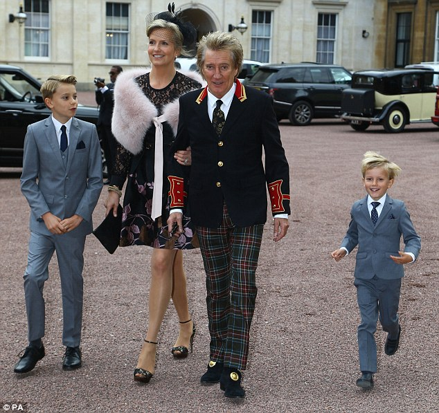 Great Scot: Rod, who was born in affluent North London suburb Highgate to a Scottish father and English mother, acknowledged his Celtic heritage by sporting a pair of colourful Tartan trousers for his meeting with Prince William