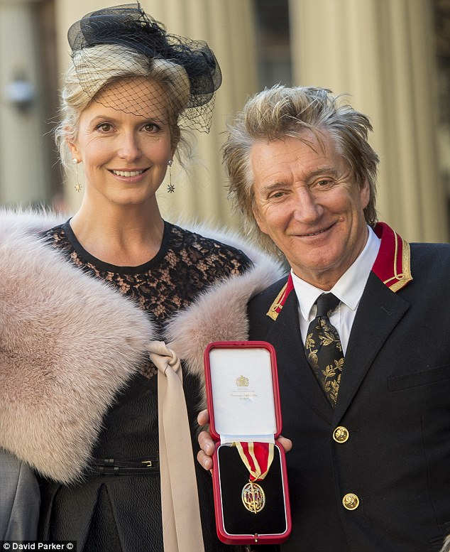 Regret:The rocker later said he wished his parents were there to see him receive a Knighthood