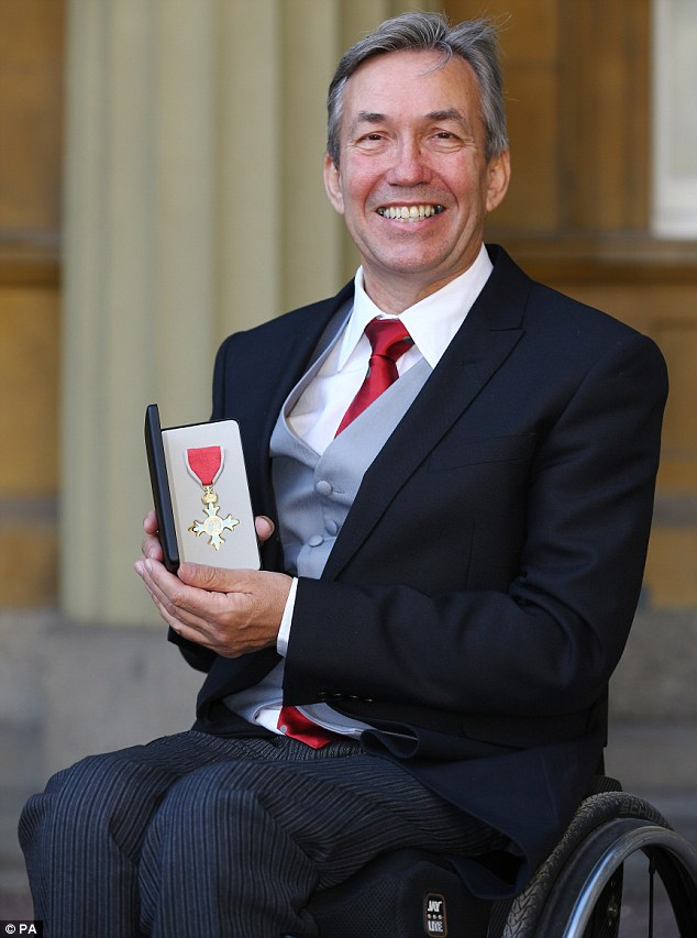 Special:Professor Nick Webborn received an OBE for services to Paralympic Sports Medicine and the British Paralympic Association