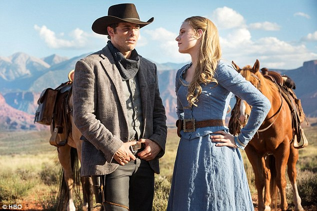 Big debut: Evan and James Marsen star as robot 'hosts' in Western-themed amusement park Westworld