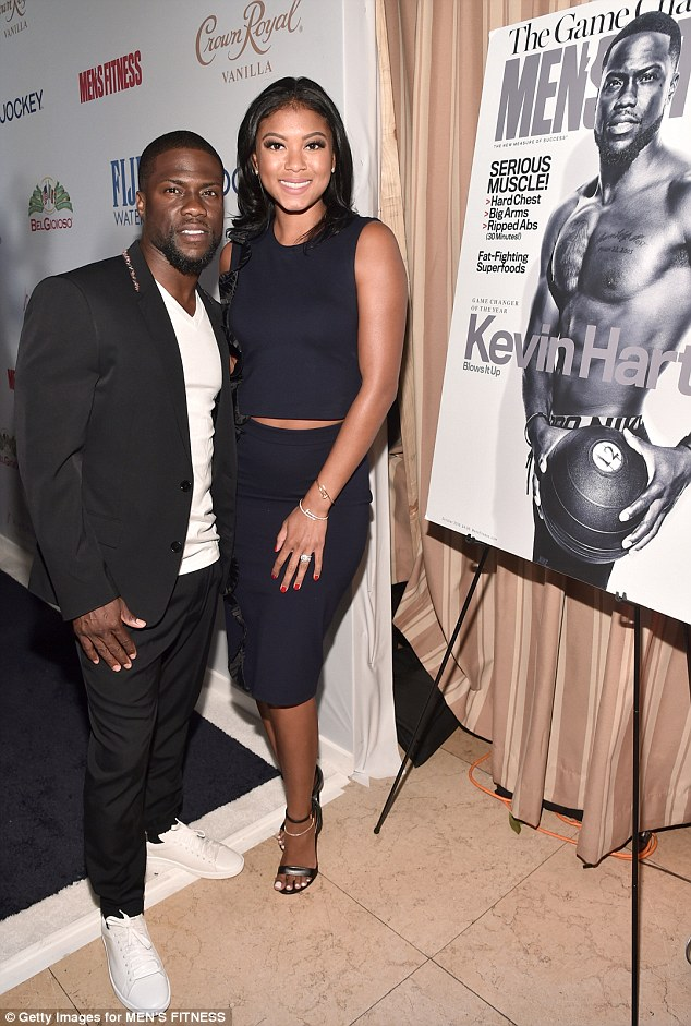 Big day:Kevin Hart, no doubt still through the moon after receiving a star on the Hollywood Walk Of Fame only hours earlier, attended the event with his new wife, Eniko Parrish