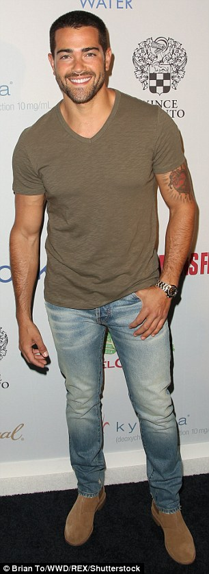 Keeping it casual!Jesse Metcalfe wore a lightweight top, distressed jeans, and boots, while Jai Courtney added a sharper touch with his white jacket and slacks