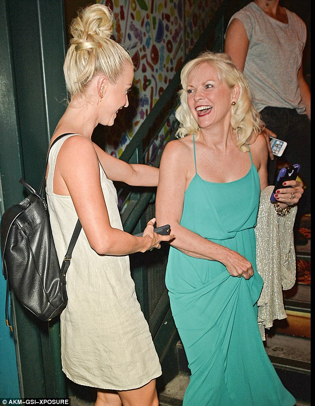 Sister act: Julianne Hough was joined by glamorous mother Marianne Hough at a post DWTS party in West Hollywood on Monday