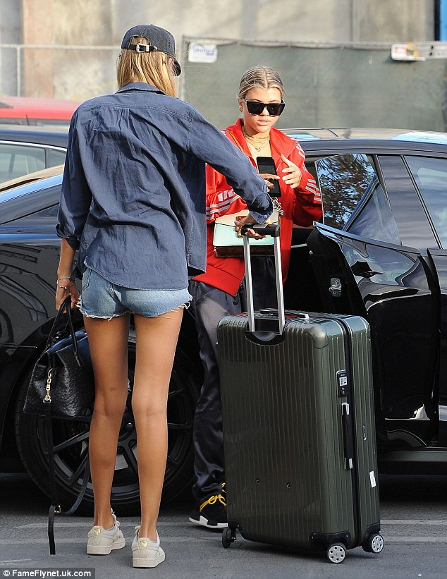Going somewhere? Bronte certainly didn't travel light, and towed a giant suitcase on wheels
